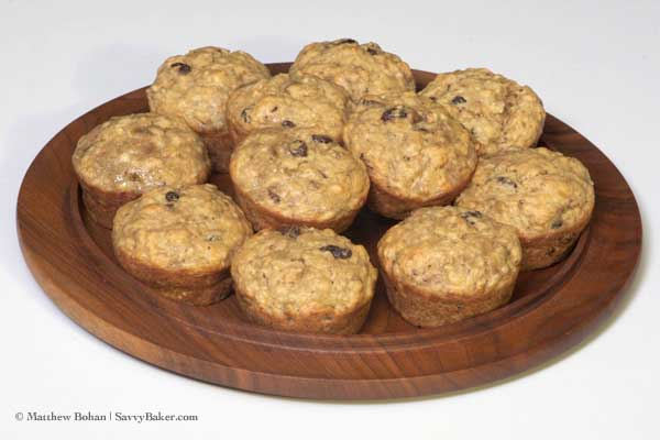 Whole Grain Banana Apple Muffins