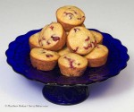 Cranberry Orange Muffins on Plate