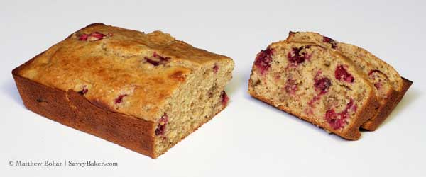 Cranberry Orange Nut Bread, Sliced