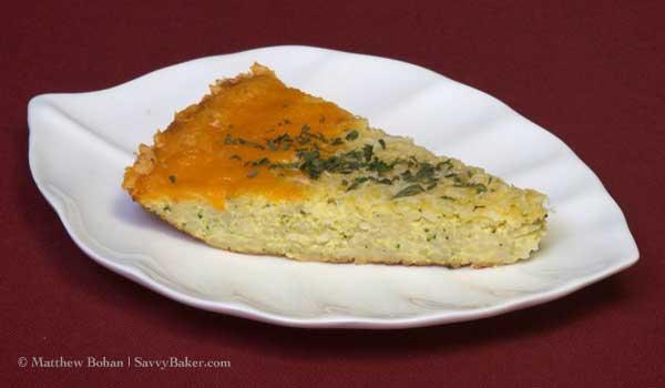 Pasta Ricotta Frittata Slice
