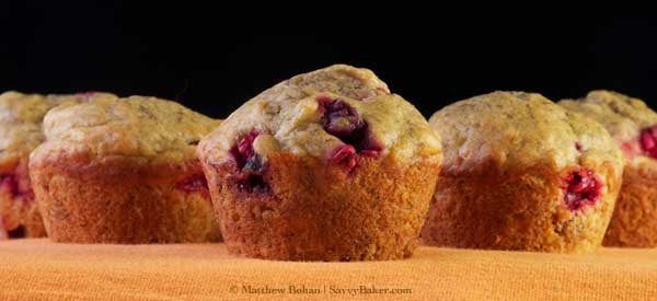 Sneaky Cranberry Banana Muffins