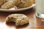 Cherry Almond Chocolate Chip Cookies (with milk)